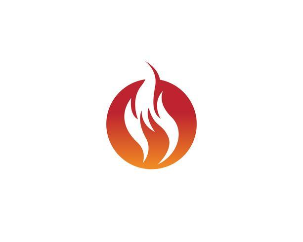 Logo d'icône de vecteur de feu