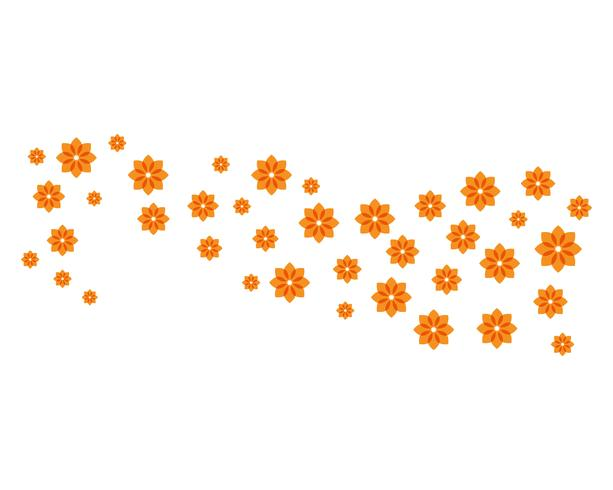 Skönhet plumeria ikon blommor design illustration