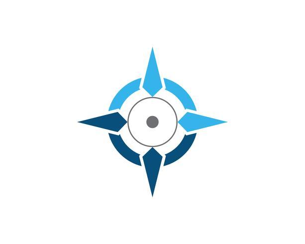 Kompass Logo Template-Vektorikonenillustration