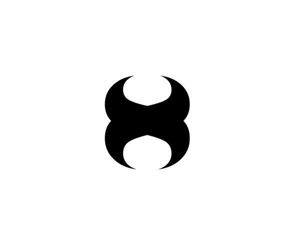 X hornLogo modelo vector ícone do design