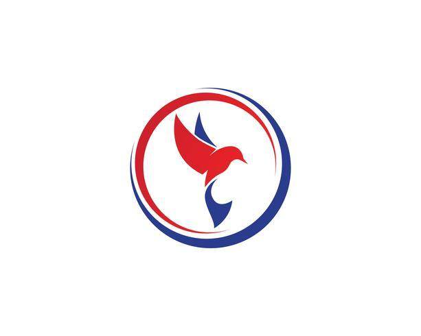 Bird logo vektor mall