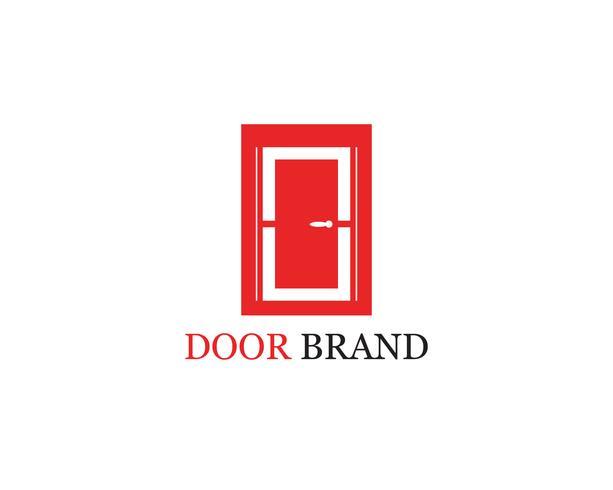 Ilustración de plantilla de vector de logotipo de puerta