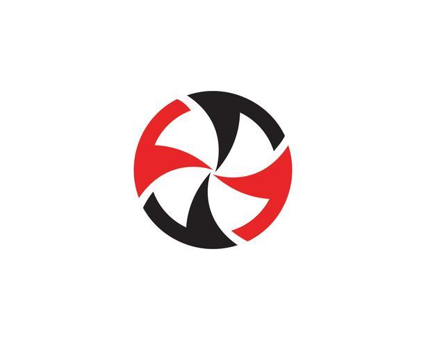 logotipo de círculo de vórtice e modelo de símbolos