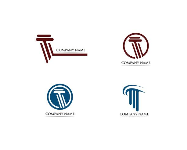 Ilustración de vector de plantilla de logotipo de columna