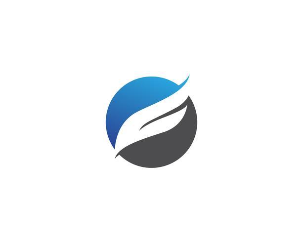 Falcon wing logo and symbol vector illustrator