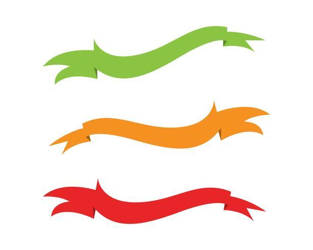 Flache Vektorband-Fahnenebene lokalisiert auf Weiß