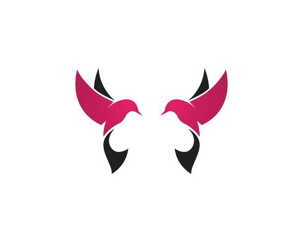 Vogel Logo Vektor Vorlage