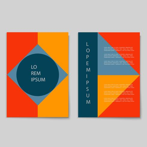 Vector set of retro minimal cards with geometric shapes