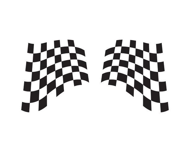Icona della bandiera della corsa, logo della bandiera della corsa di progettazione semplice