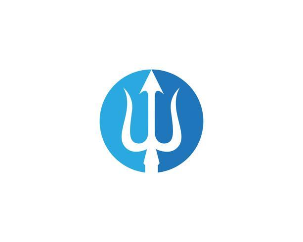 Magia tridenth trisula logo vectores