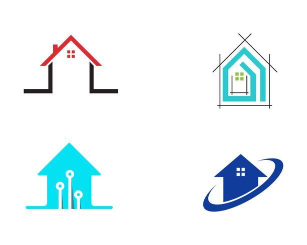 Vetores de construção de logotipo em casa