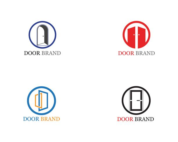 illustration de modèle de porte logo vector