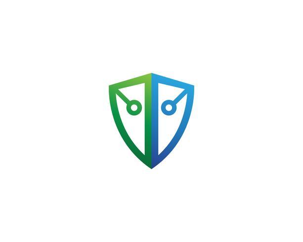 shield Security guard logo design vector template