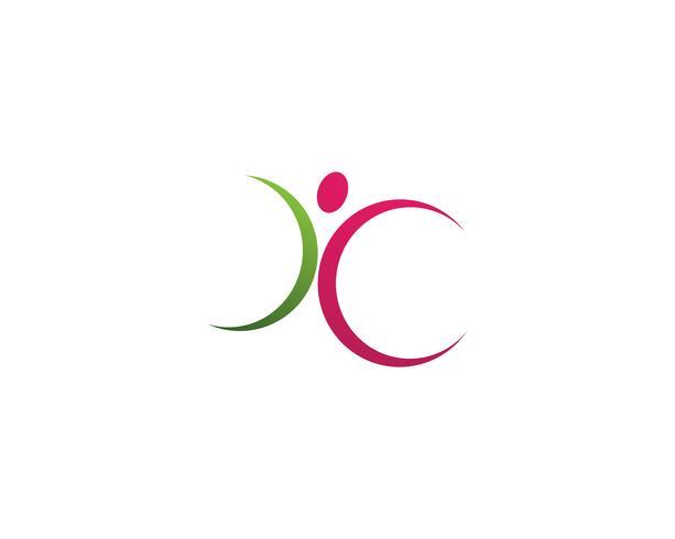 Vetores de logotipo de pessoas de liderança