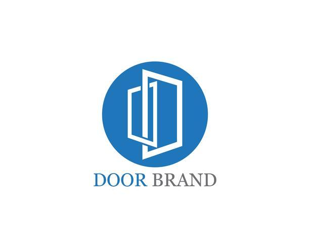 door logo vector template illustration