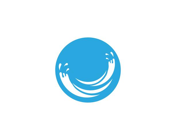 Logo nature bleu éclaboussure vecteur