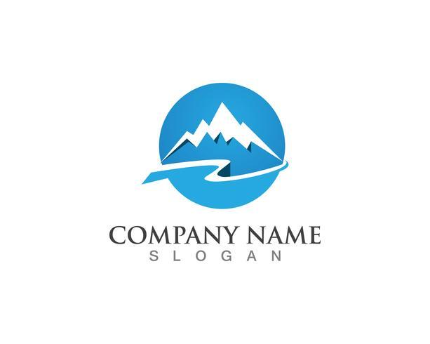 Simboli del modello di vettore logo montagna