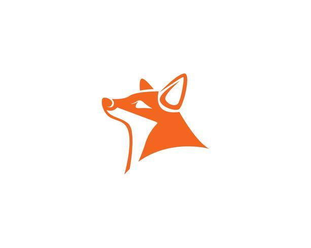 Fox logo vector sjabloon illustrator