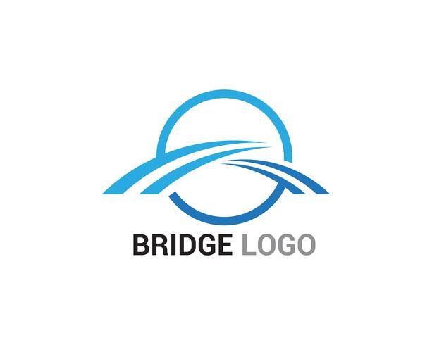 Costruzione del modello di vettore di logo e simbolo del ponte
