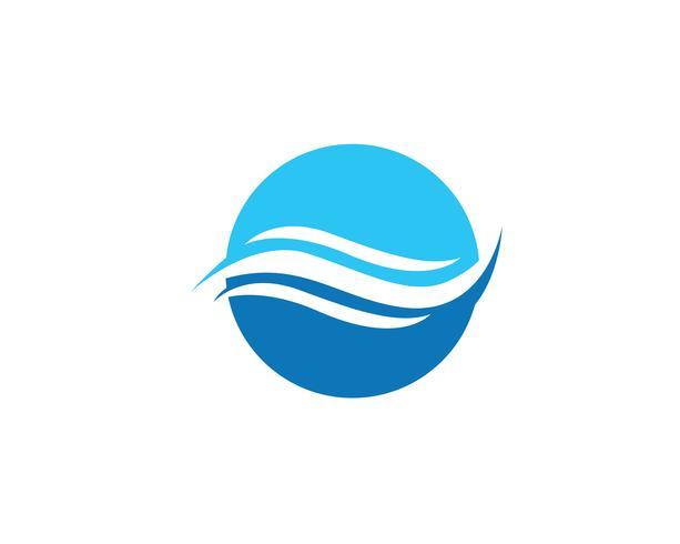 Wellenwasser Logo Strand blau