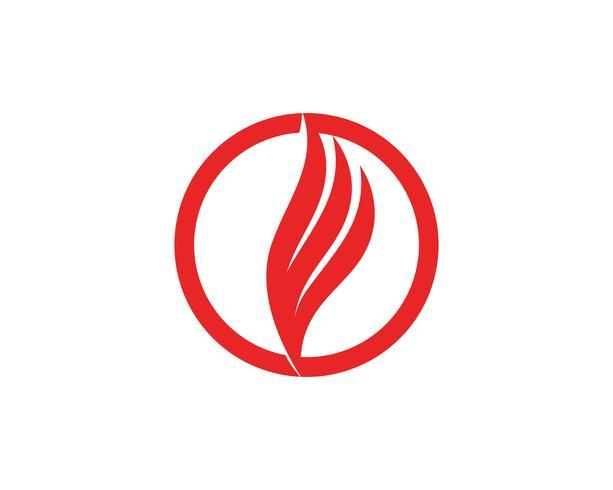Modello di fiamma del fuoco Logo