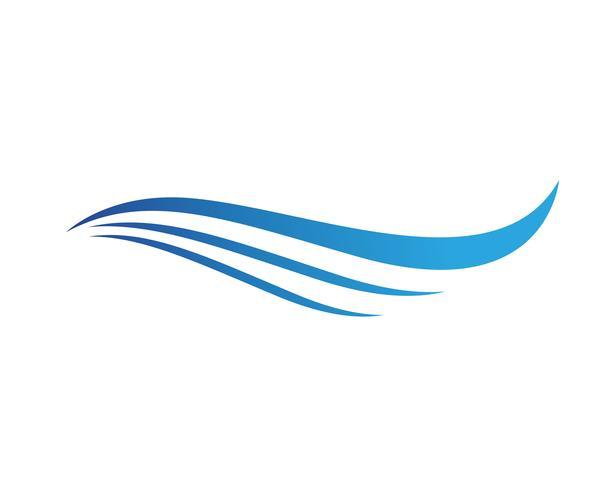 Wave strand och sol logo och symboler