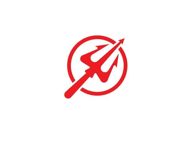 Logo trisula magica tridente