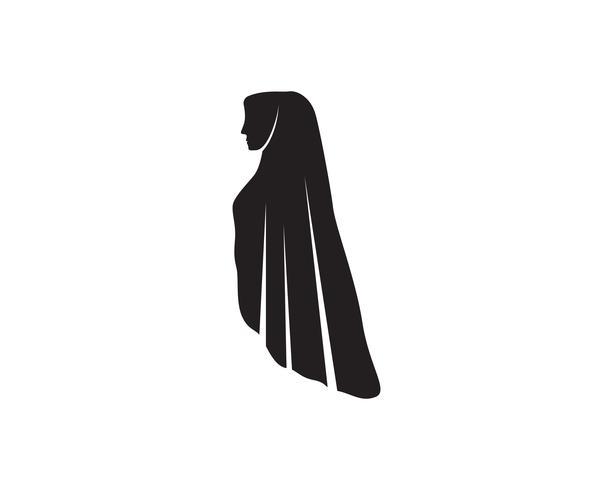 hijab vektor svart logotyp