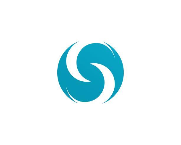 Modèle vectoriel logo s