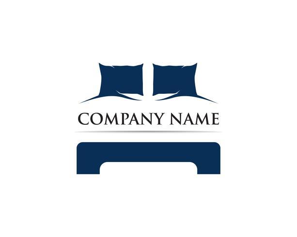 Bed logo vector sjabloon illustrator