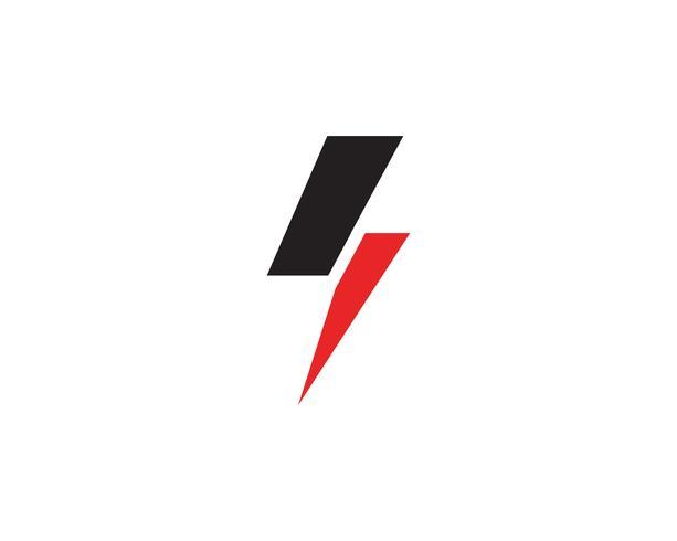 Vetor de modelo de logotipo de relâmpago