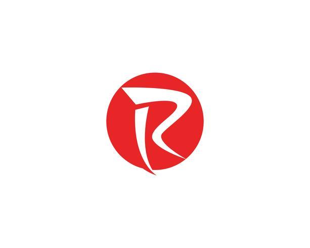 R logo et vecteur de symbole