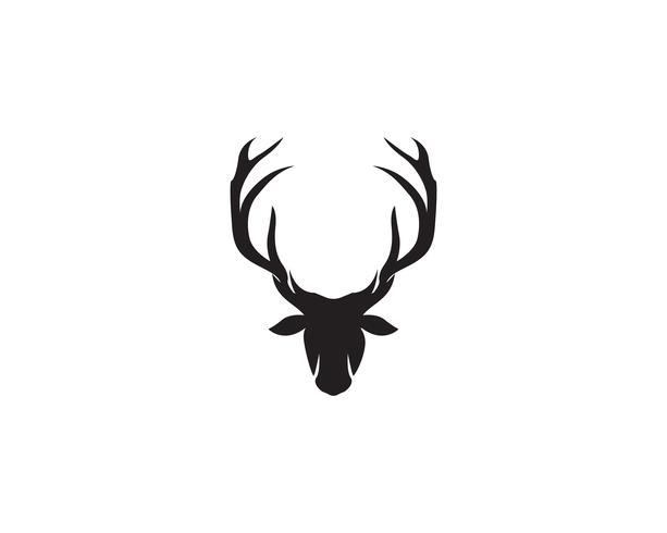 Deer head vector logo negro