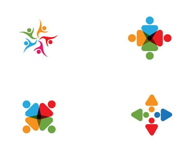 vector de plantilla de logotipo de cuidado comunitario