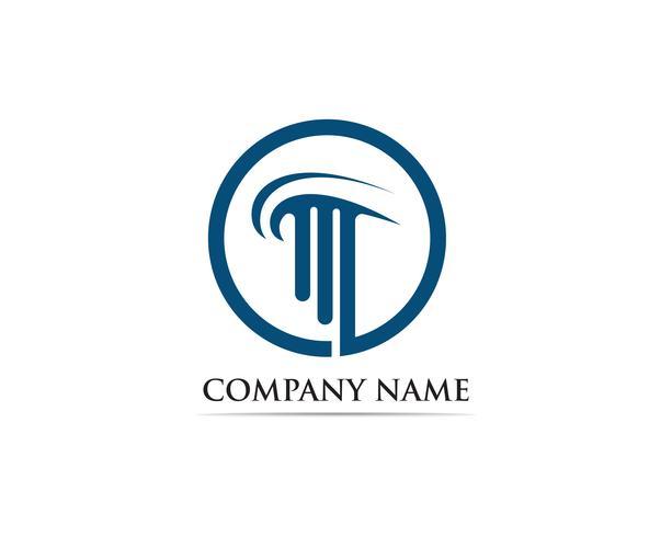 illustration vectorielle de colonne Logo Template