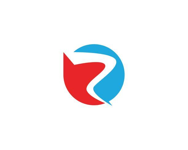 Logo R y vector de símbolo