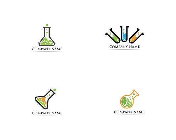 Laborlogovektorikonen-Schablonenillustration