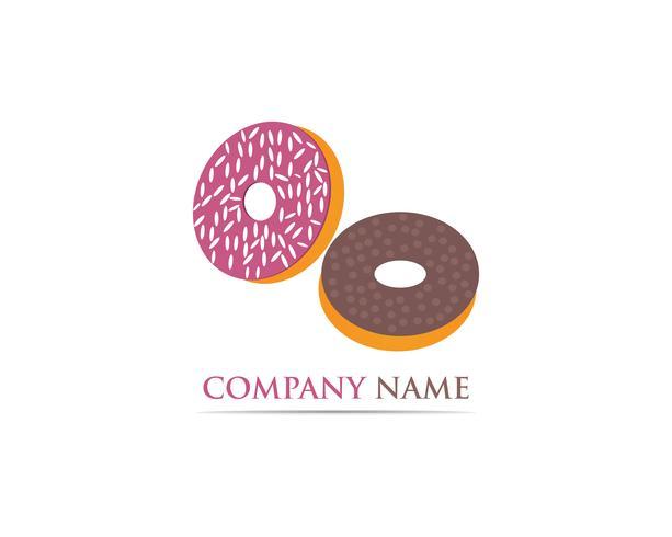 Ilustración de plantilla de vector logo de Donuts