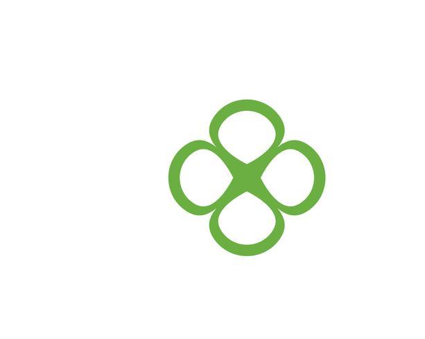 Groene klaver blad Logo sjabloon