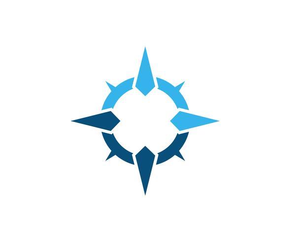 Kompass Logo Template-Vektorikonenillustration vektor