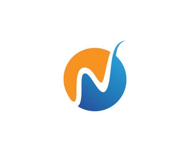 Modelo de vetor logotipo W