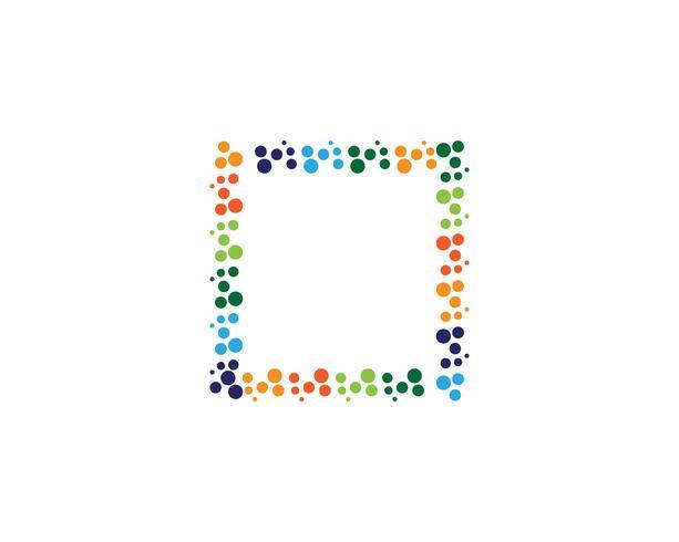 Cirkel logo vector sjablonen