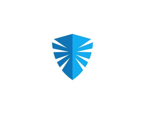 Schild Wachmann Logo Design Vektor Vorlage