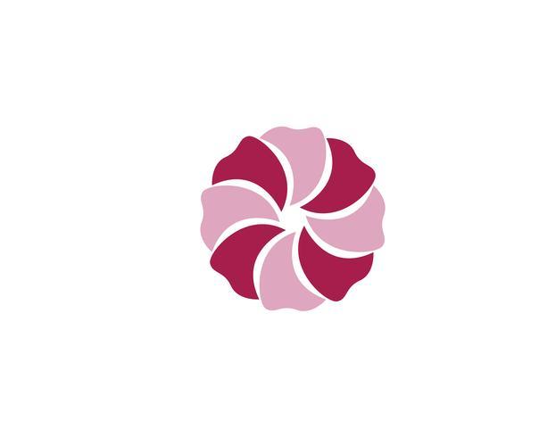 Ilustración de diseño de flores de icono de plumeria de belleza