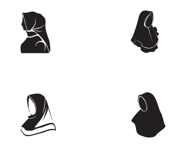 hijab vector negro