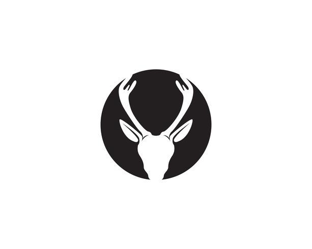 Deer head vector logo negro
