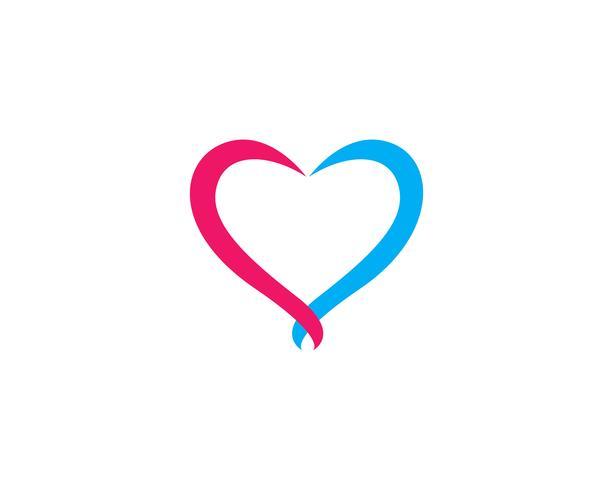 Kärlek logotyp vektor mall illustration