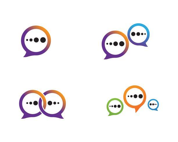 Spracheblasenikone Logoschablonen-Vektorillustration