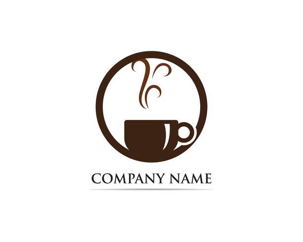 Coffee cup Logo Template vector icon