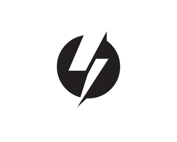 Vector de plantilla de logotipo de rayo